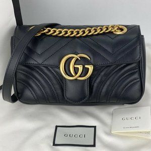 Gucci GG Marmont quilted Mini Handbag 446744450798